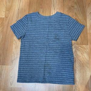 Gray and black striped boys t-shirt